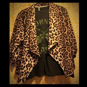 MOA Leopard Print Blazer